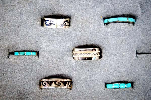 Native American Zuni and Hopi Silver Rings