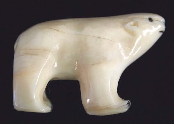 Vintage Northwest Coast Carved Ivory Polar Bear