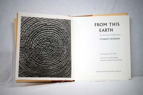 "Pueblo Pottery Book ""From this Earth"" by Peckman"