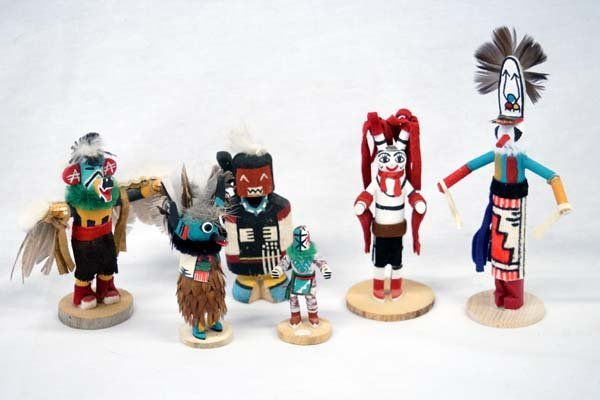 Collection of 6 Native American Kachinas