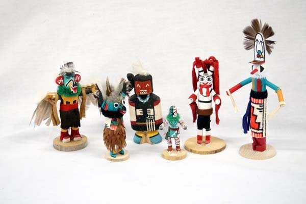 Collection of 6 Native American Kachinas - 2