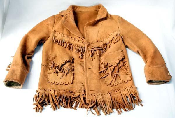 1900 Buckaroo Childs Suede Fringed Jacket
