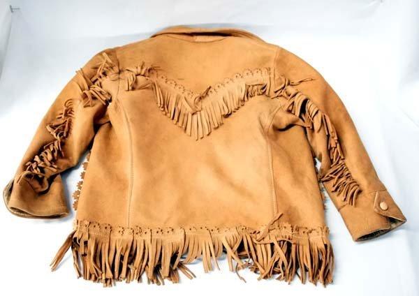 1900 Buckaroo Childs Suede Fringed Jacket - 2