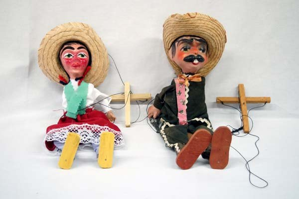 Mexican Pedro and Rosita String Marionettes
