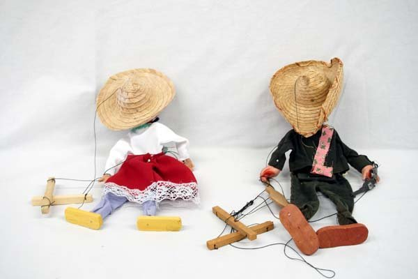 Mexican Pedro and Rosita String Marionettes - 2
