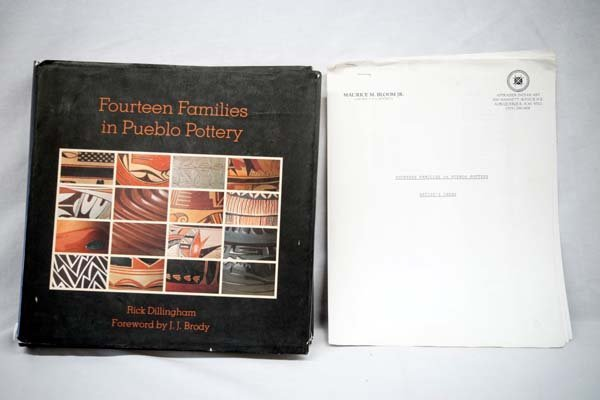Fourteen Families in Pueblo Pottery by Dillingham