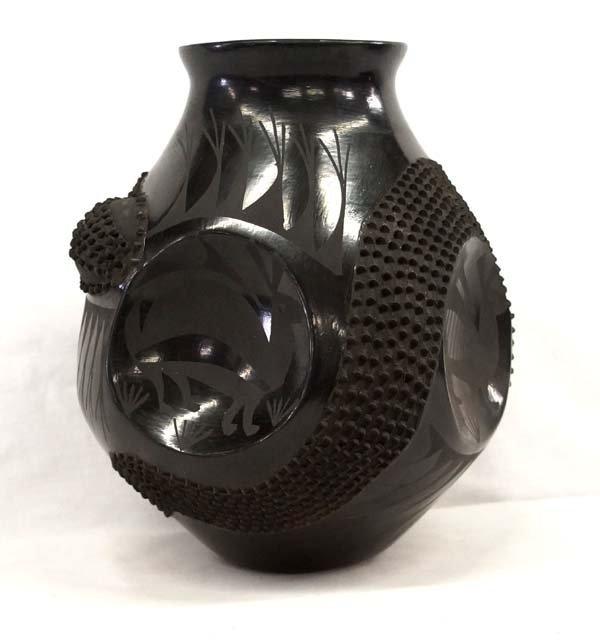Mexican Mata Ortiz Jar by Jose Gonzales - 2