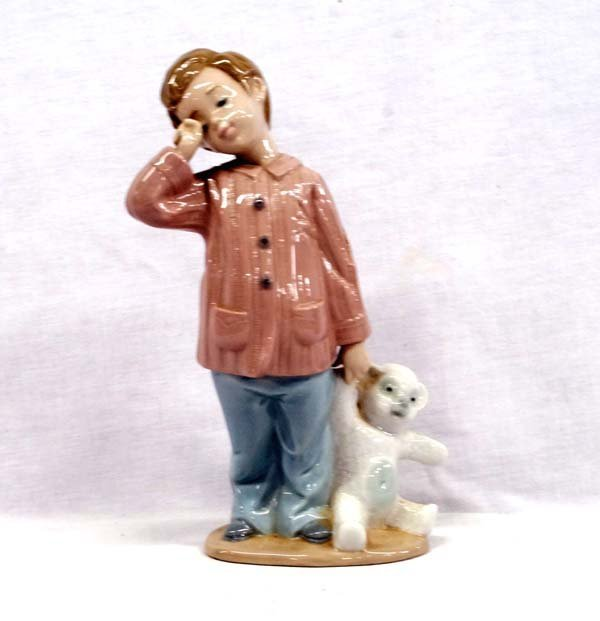 Sleepy Child Porcelain Figure by Lladro