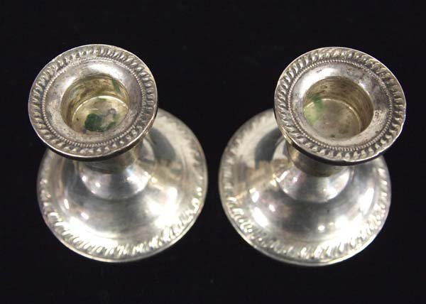 Pair of Sterling Silver Candle Holders