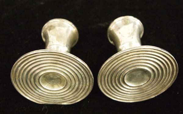 Pair of Sterling Silver Candle Holders - 2
