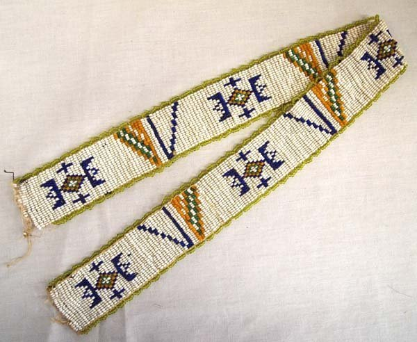 Antique Sioux Beaded Hat Band