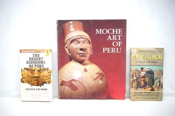 3 Vintage Soft Cover Books on Peru.