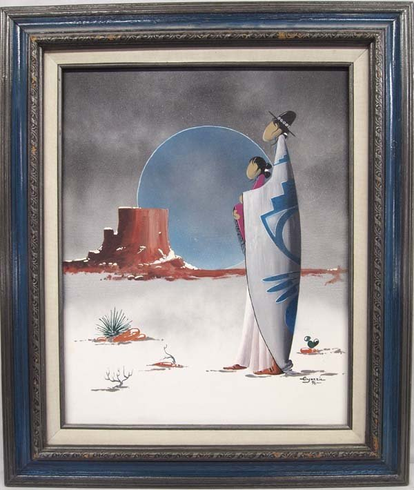 Native American Navajo Original Painting, E Yazzie