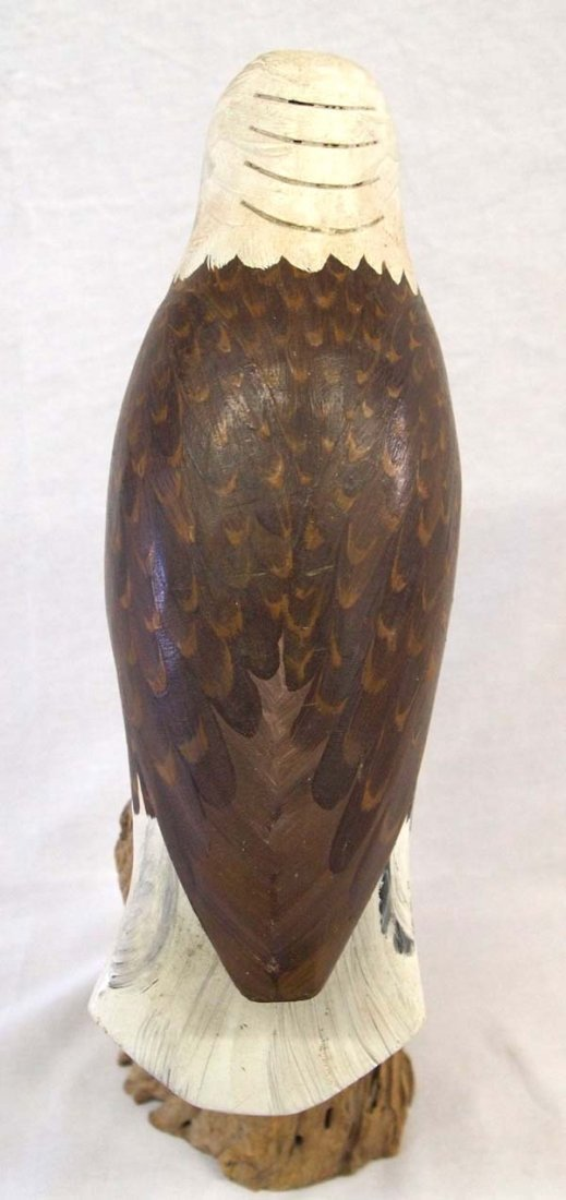 1958 Carved Hand Painted Wooden Bald Eagle - 3