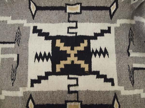 Navajo Storm Pattern Wool Textile Rug