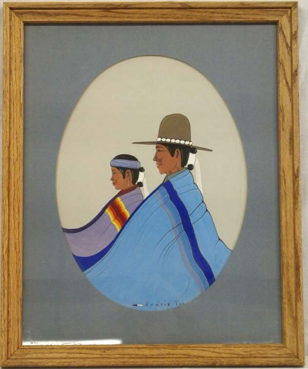 1979 Native American Original Painting by J. Tso