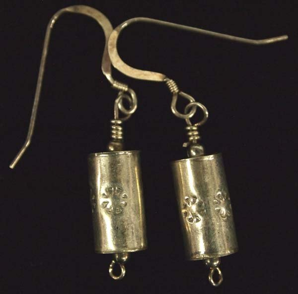 Navajo Silver Turquoise Necklace and Earrings - 4