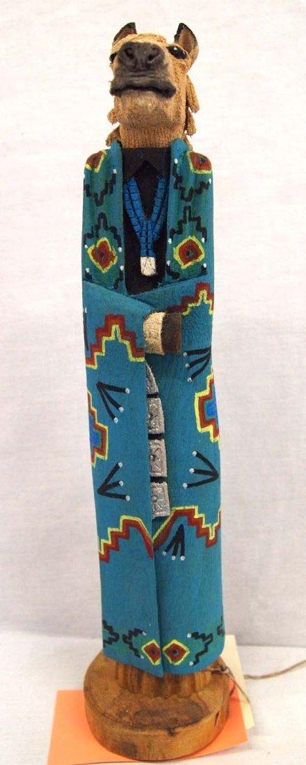 Navajo Carved Wood Folk Art Horse by Marvin Jim
