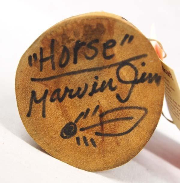 Navajo Carved Wood Folk Art Horse by Marvin Jim - 4