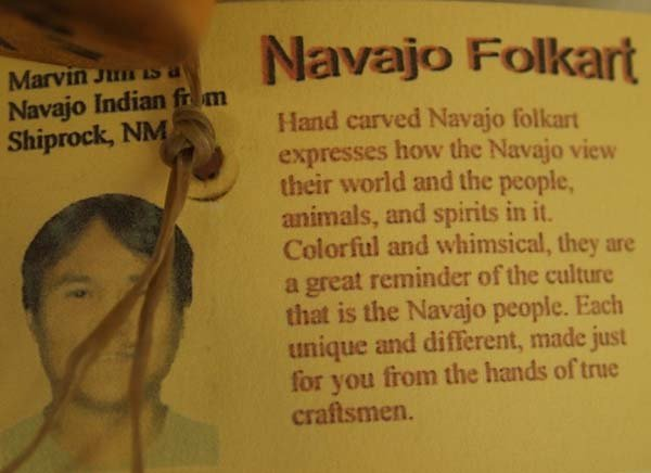 Navajo Carved Wood Folk Art Horse by Marvin Jim - 5