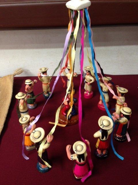 Peruvian Clay El Baile de las Cintas (Ribbon Dance)