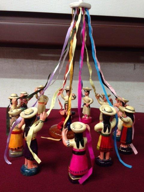 Peruvian Clay El Baile de las Cintas (Ribbon Dance) - 2