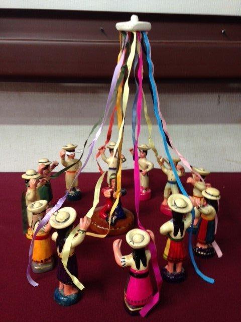 Peruvian Clay El Baile de las Cintas (Ribbon Dance) - 3