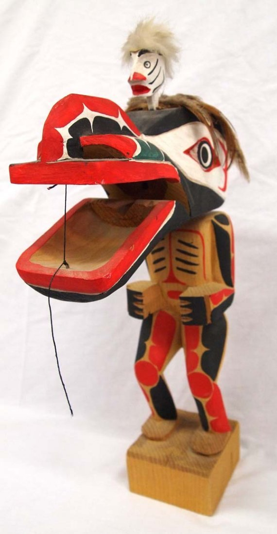1970 Northwest Coast Haida Dance Mask Figure - 2