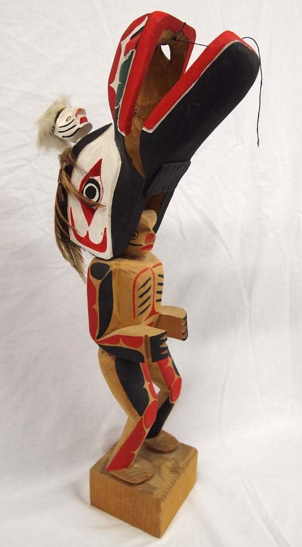 1970 Northwest Coast Haida Dance Mask Figure - 4
