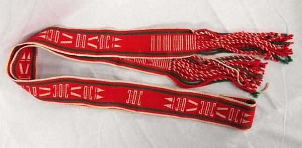 Native American Fringed Hopi Dance Sash