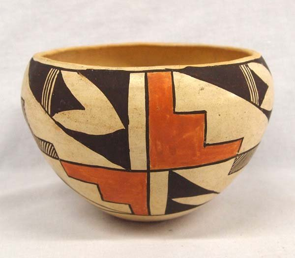 Vintage Native American Acoma Polychrome Bowl