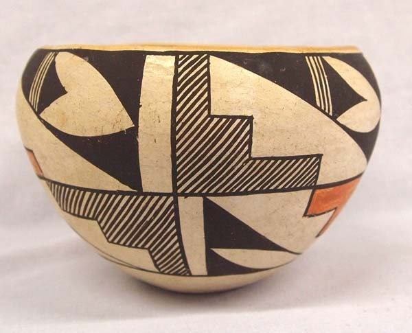 Vintage Native American Acoma Polychrome Bowl - 2