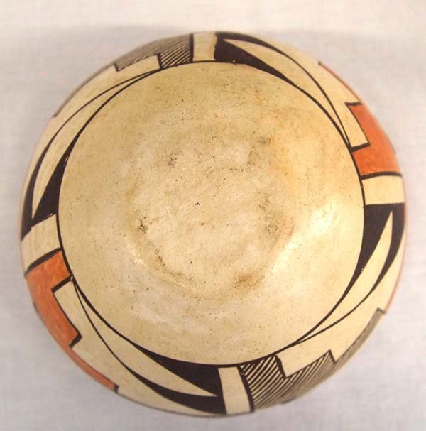 Vintage Native American Acoma Polychrome Bowl - 4
