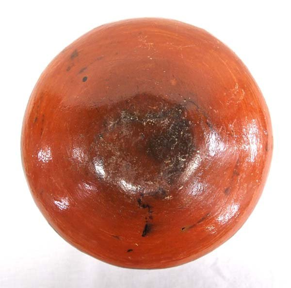 South American Shipibo Raised Face Rattle Bowl - 5