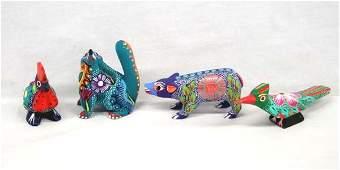 Assortment of Mexican Oaxacan Alebrije Animals