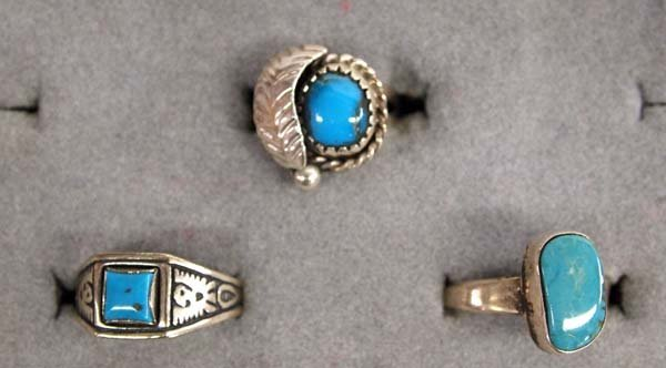 8 Native American Navajo Sterling Silver Rings - 2