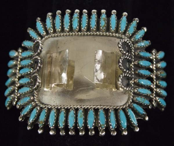 Navajo Sterling and Turquoise Watch Bracelet