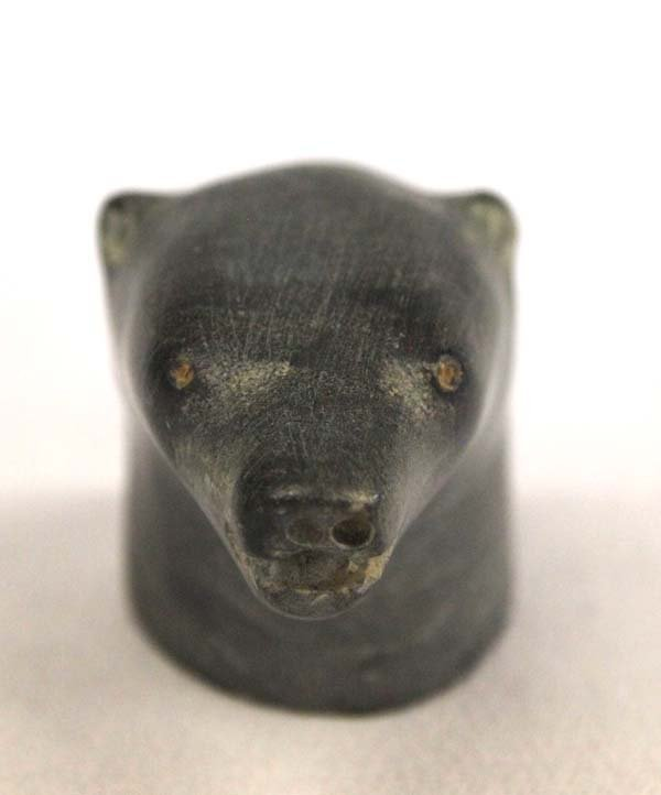Canadian Inuit Carved Alaskan Jade Sea Lion Bust - 4