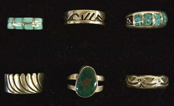 Native American Sterling Silver Rings