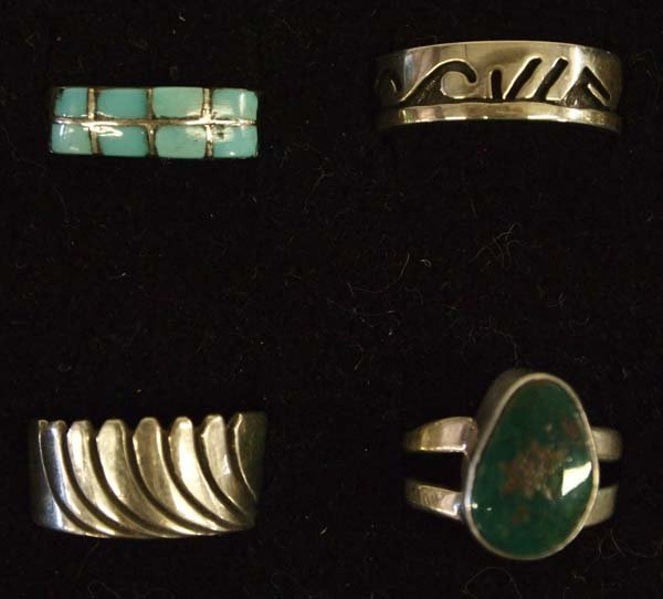 Native American Sterling Silver Rings - 2