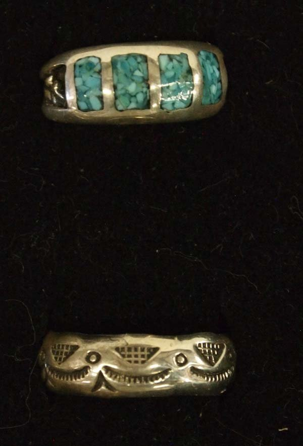 Native American Sterling Silver Rings - 3