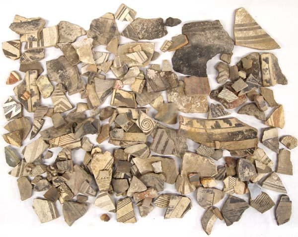 Collection of Prehistoric Mimbreno Pottery Sherds