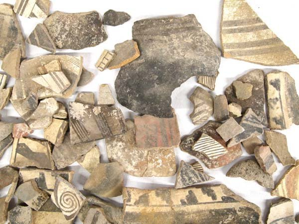 Collection of Prehistoric Mimbreno Pottery Sherds - 3