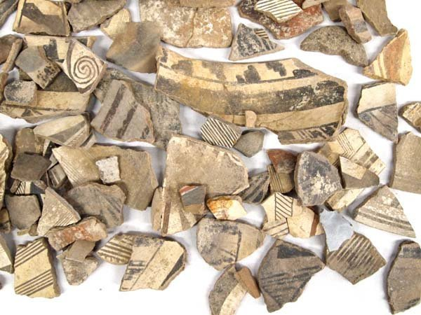 Collection of Prehistoric Mimbreno Pottery Sherds - 4