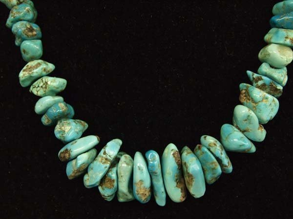 1950 Navajo Turquoise Nugget Necklace