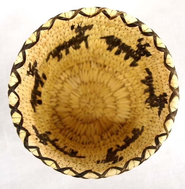Tohono O'odham Woven Split Stitch Deer Basket - 2