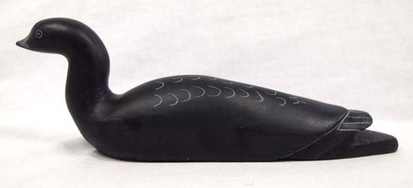 Canadian Inuit Stone Duck by Samwillie Iqaluk - 2