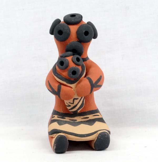 Jemez Mudhead Pottery Figure by F Fragua