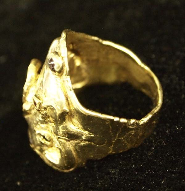 10K Gold and Sapphire Ring, Size 9.75 - 2