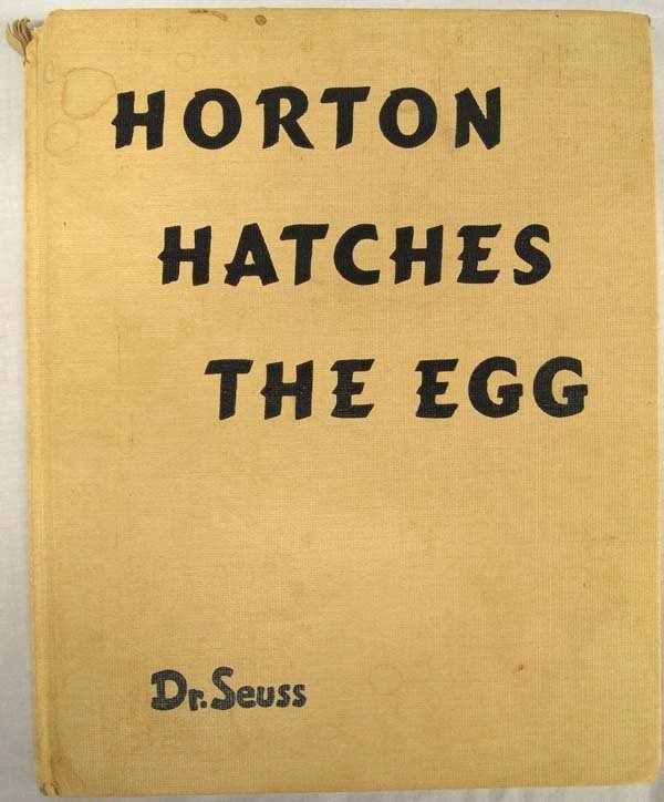 1940 First Edition Horton Hatches a Who, Dr. Seuss